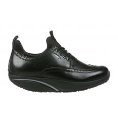 Pate Black Leather Woman Shoes