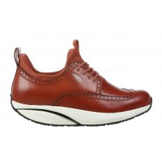 Pate Brown Leather Woman Shoes